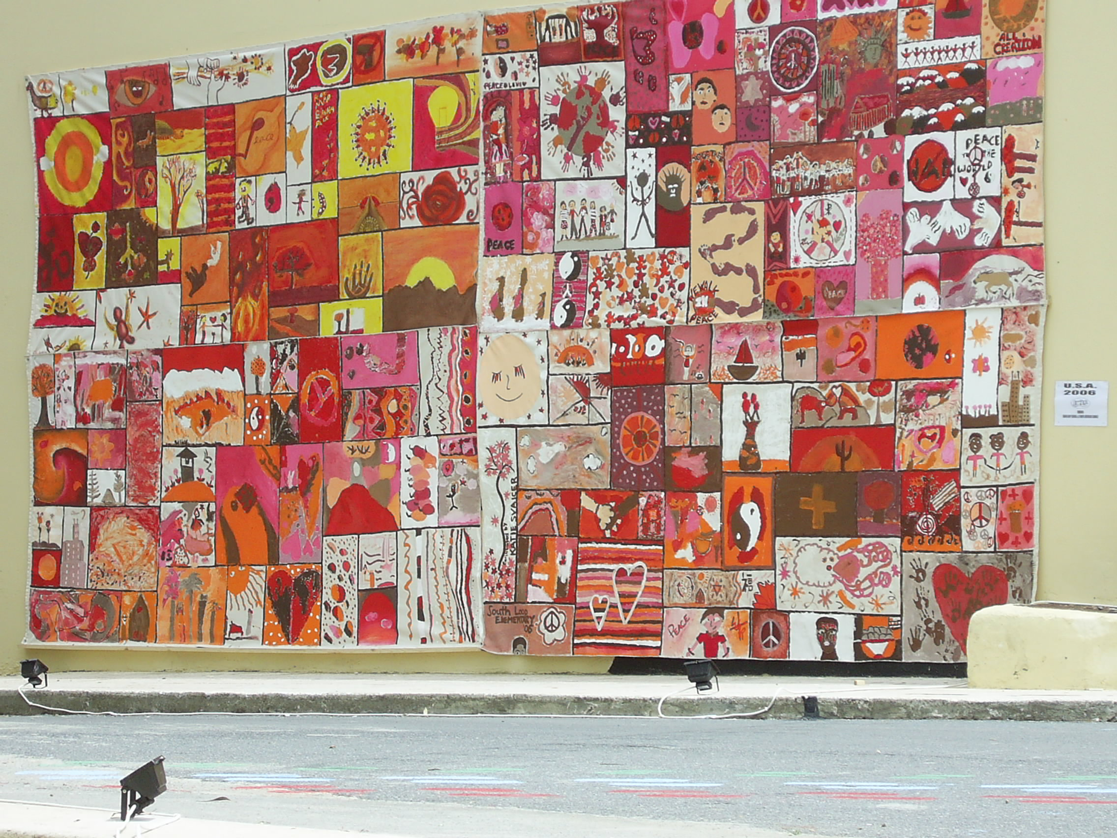 2 murals from chicago 2006 2007 create in the end three schools joined their separate parts with one of the schools being the hellenic american school in chicago the project meant to take